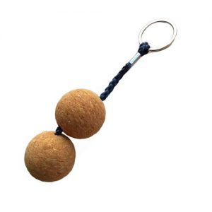 Брелок из пробкового дерева (2 шара)