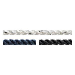 3-прядный полиэстеровый трос, 12 мм. (черный)