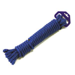 Полиэстеровый трос 3-прядный, 14 мм. (синий)