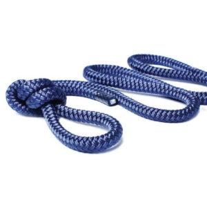 3-прядный швартовый конец, 9.5мм*4.5м (синий)