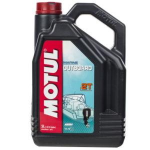 Масло Motul Outboard 2T (минер.), 5 л.