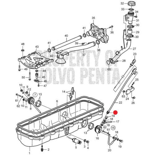 Ниппель мотора Volvo Penta