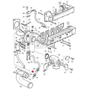 Шланг (трубка) Volvo Penta D4 — D6