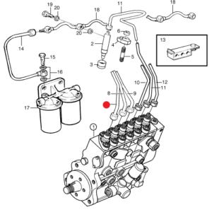 Топливная трубка Volvo Penta TAD/TWD