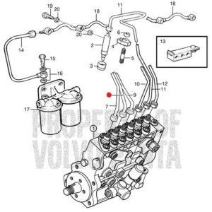 Топливный шланг (трубка) Volvo Penta
