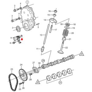 Уплотнител. кольцо Volvo Penta 4.3-5.7 L