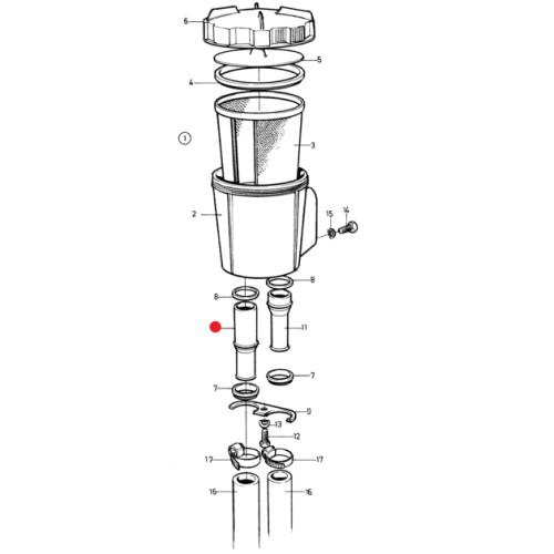 Трубка водяного фильтра Volvo Penta 3888859