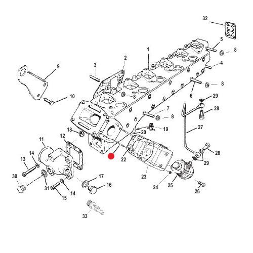 Шпилька выпускного коллектора Mercruiser
